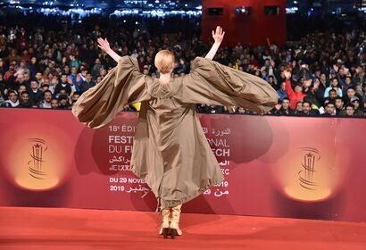 Tilda Swinton at the Marrakech Film Festival