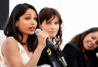 Actress Freida Pinto at Cannes
