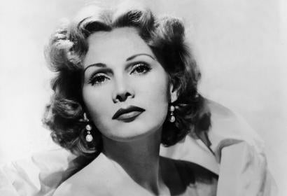Actress Zsa Zsa Gabor in 1950