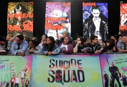"Fans line up at the European premiere of 'Suicide Squad"", in London"