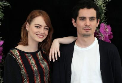 La La Land Director Damien Chazelle and Actress Emma Stone at Venice 2016
