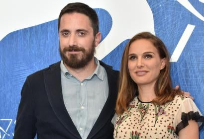 Director Pablo Larraín and actor Natalie Portman, Golden Globe winners