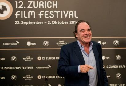 Golden Globe winner director Oliver Stone at the Zurich Film Festival 2016