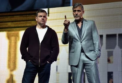 "George Clooney and Matt Damon present ""Suburbicon"" at CinemaCon 2-17"