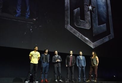 The cast of Justice League at CinemaCon 2017, Las Vegas