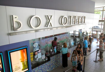 A movie theater box office