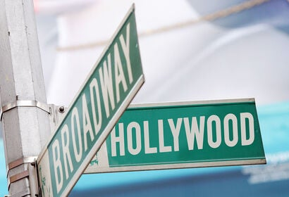 Hollywood - Broadway street sign