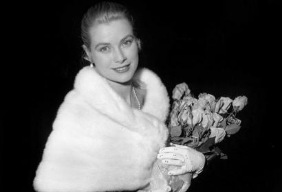 Actress Grace Kelly in Cannes, 1955