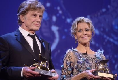 Robert Redford and Jane Fonda receive the Golden Lion Lifetime Achievement at the 74th Venice Film Festival