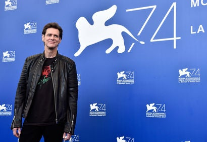 Jim Careyu at the 2017 Venice Film Festival