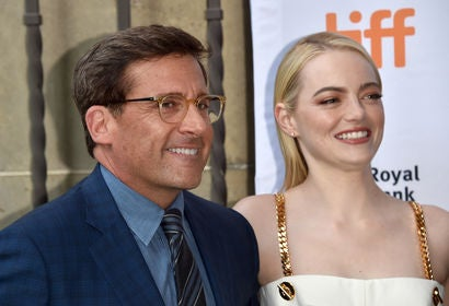 Steve Carell and Emma Stone