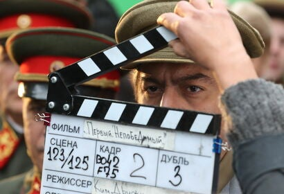 Filming in Russia