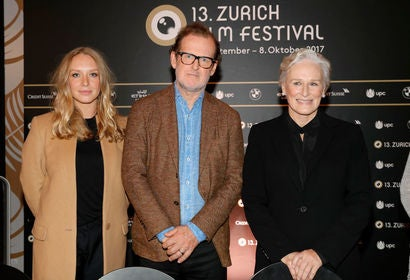 Annie Maude Starke, director Björn Runge and Glenn Close at Zurich Film Festival 2017