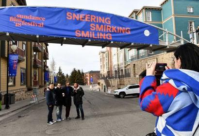 Street sign , Park City, Sundance 2018