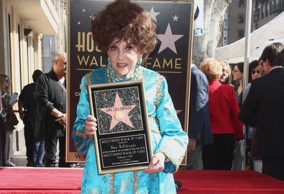 Gina Lollobrigida,Golden Globe nominee and World Favorite 1962, receives a star on the Hollywood Walk of Fame