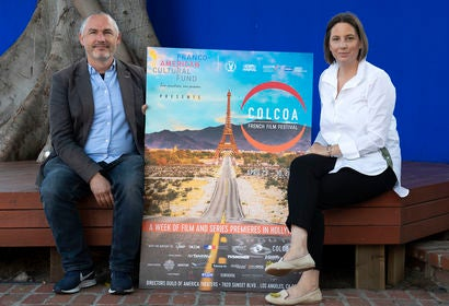 Founders and directors of film festival colcoa
