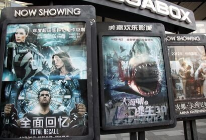 Hollywood films in China
