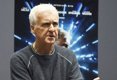 Filmmaker James Cameron, Golden Globe winner