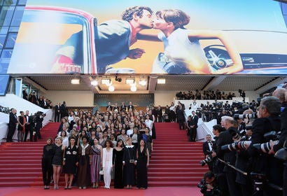 82 women on the steps of the Palais, Cannes 2018