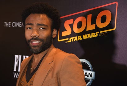 Actor Donald Glover, Golden Globe winner