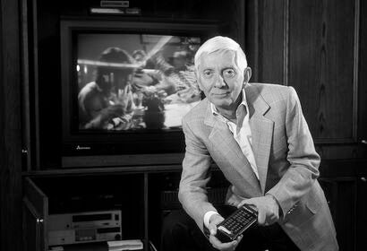 TV producer Aaron Spelling, Golden Globe nominee, in the 1990s