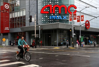 An AMC movie theater in San Francisco, 2020