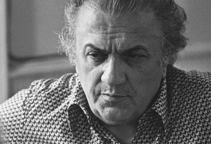 Filmmaker Federico Fellini, Golden Globe winner