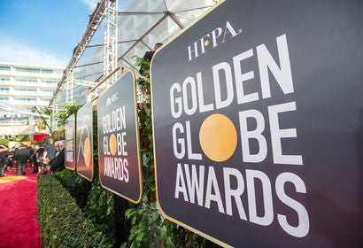 General view of Golden Globes red carpet