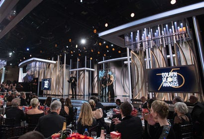General view of the 75th  Golden Globes stage