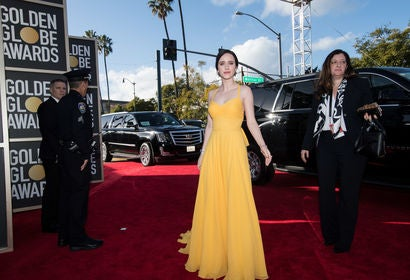 Actress Rachel Brosnahan at the 2019 Golden Globes