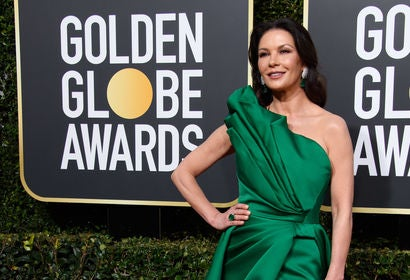 Catherine Zeta-Jones at the 2019 Golden Globes