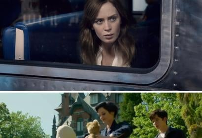 Emily Blunt in Girl on the Train/Eva Green and Asa Butterfield in Miss Peregrine's Home for Peculiar Children