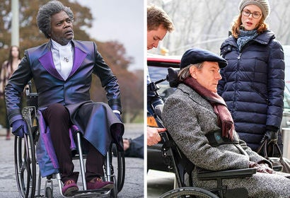 "Scenes from ""Glass"" and ""The Upside"""