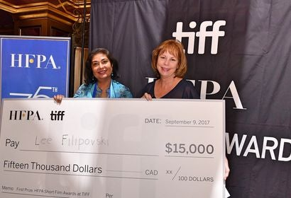 HFPA president Meher Tatna and TIFF executive director COO Michelle Maheux