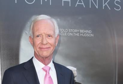 "Chesley ""Sully"" Sullenberger at the premiere of the movie ""Sully"""