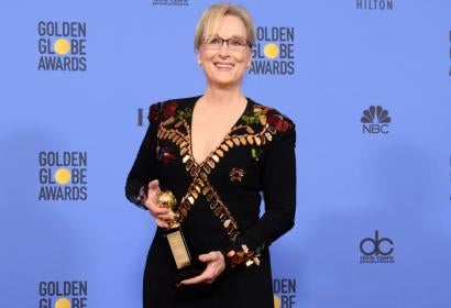Actress Meryl Streep, Cecil B. deMille recipient