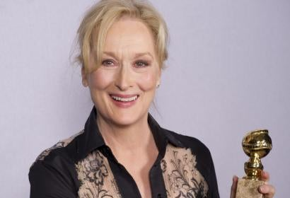 Actress Meryl Streep, Goldem Globe winner