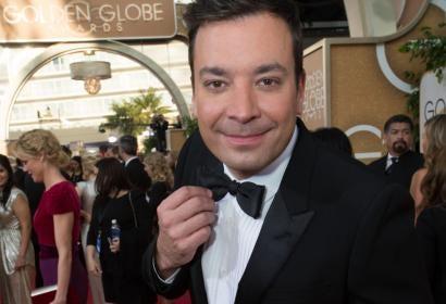 Jimmy Fallon at the 71st Golden Globe Awards