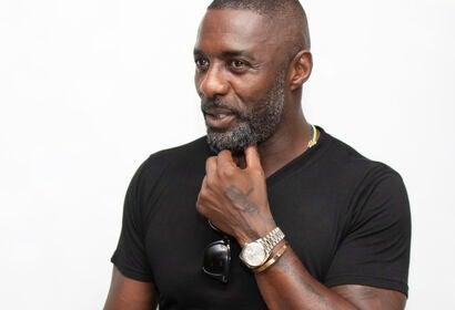 Acror and DJ Idris Elba, Golden Globe winner
