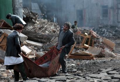 "A scene from the Armenian film ""Earthquake"""