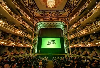 Opening of the 2019 Oaxaca Film Festival at the Macedonio Alcala Theater in Oaxaca, Mexico
