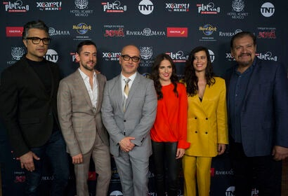 Attendees of the nominations announcement of the Premios Platino 2019