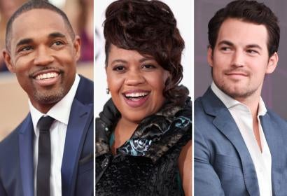 Jason George, Chandra Wilson and Giacomo Gianniotti