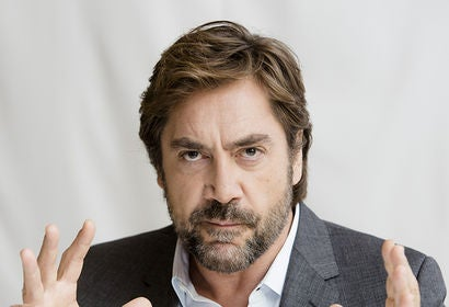 Actor Javier Bardem, Golden Globe winner