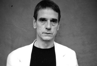 Actor Jeremy Irons, Golden Globe winner