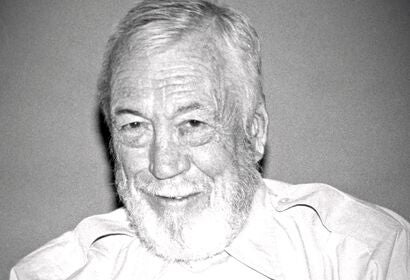 Director, actor John Huston, Golden Globe winner, 1985