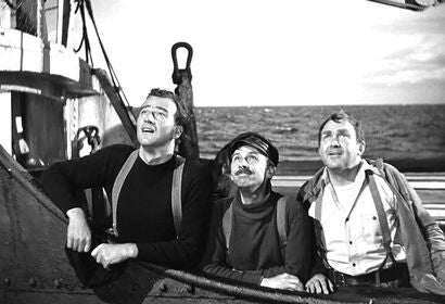 "John Wayne, Thomas Mitchell, John Qualen in ""The Long Voyage Home"" (1940)"