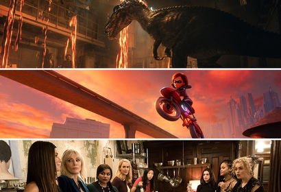 """Scenes from """"Jurassic World: Fallen Kingdom"""", """"Incredibles 2"""" and """"Ocean's 8"""""""""""