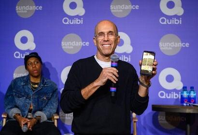 Founder Jeffrey Katzenberg presnts Quibi at Sndnace, 2020
