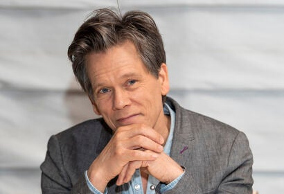 Actor and musician Kevin Bacon, Golden Globe winner